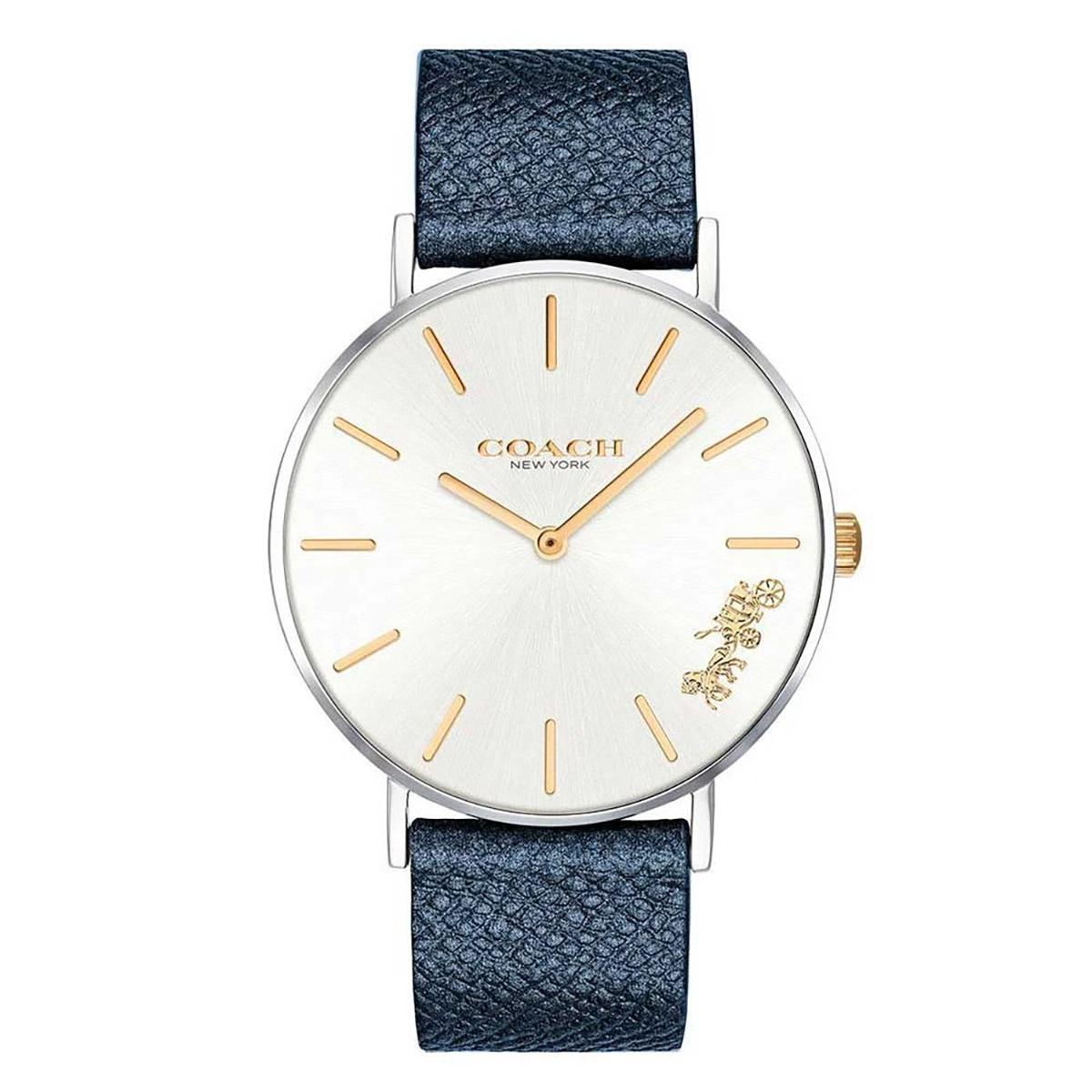コーチ 海外正規品 送料無料 あす楽 時計 レディース 腕時計 メーカー公式ショップ PERRY レザー ブランド 14503156 プレゼント 安い ペリー 販売実績No.1 ゴールド ネイビー