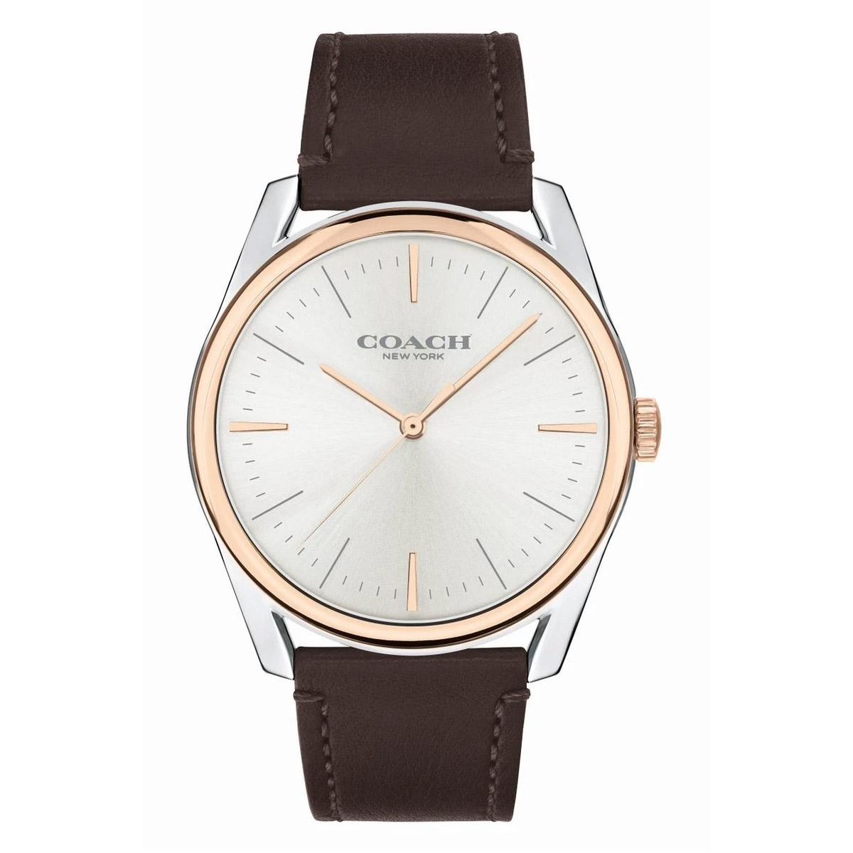 感謝価格 コーチ 海外正規品 送料無料 あす楽 時計 メンズ 腕時計 レザー ショップ プレストン プレゼント ブラウン 安い 14602482 ブランド