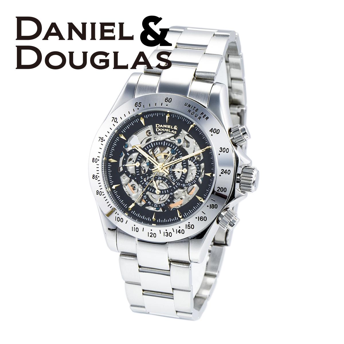 ダニエルダグラス DANIEL&DOUGLAS ダニエル ダグラス DD8802-BKGD メンズ 時計 腕時計 自動巻き オートマチック スケルトン