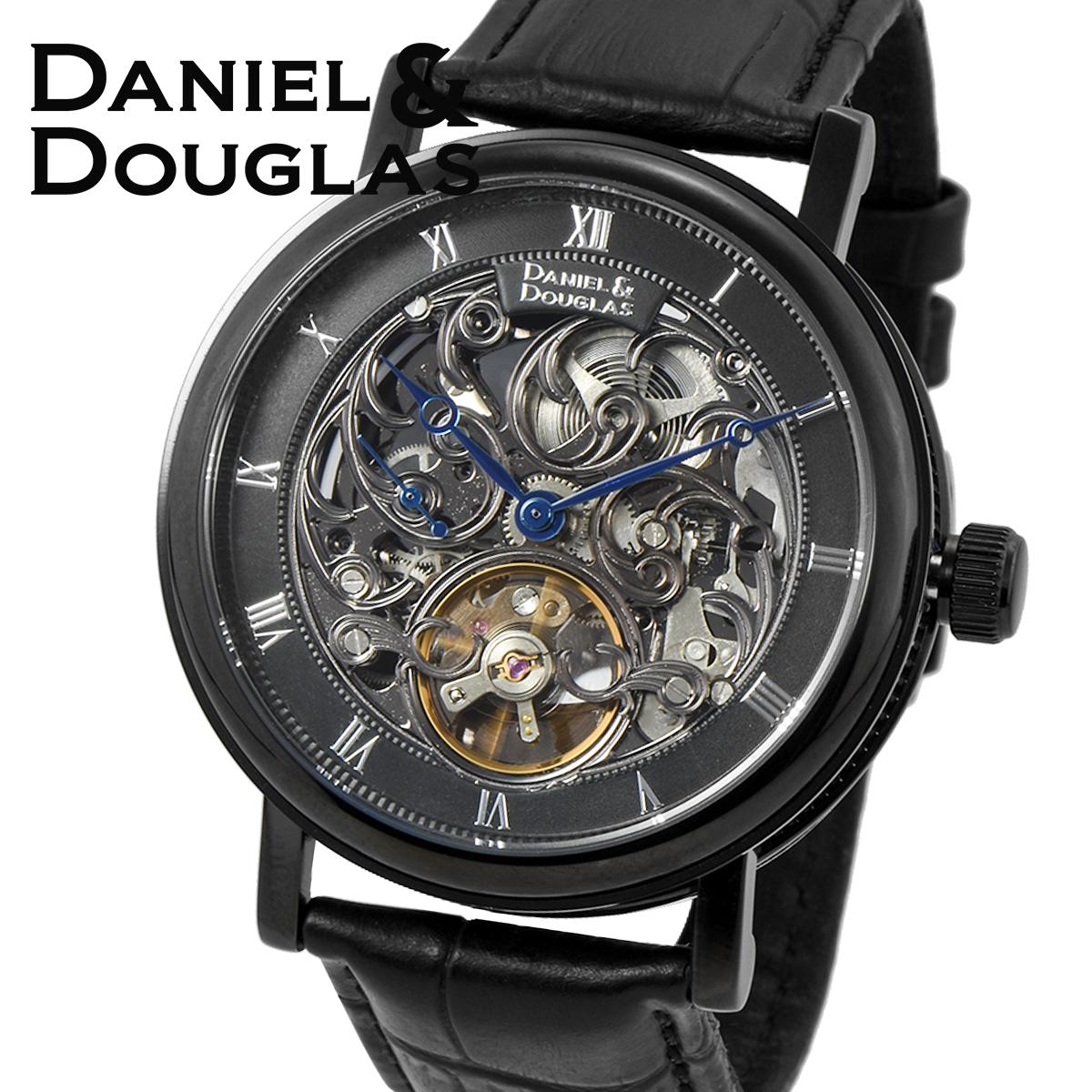 ダニエルダグラス DANIEL&DOUGLAS ダニエル ダグラス DD8805-BK メンズ 時計 腕時計 自動巻き オートマチック スケルトン