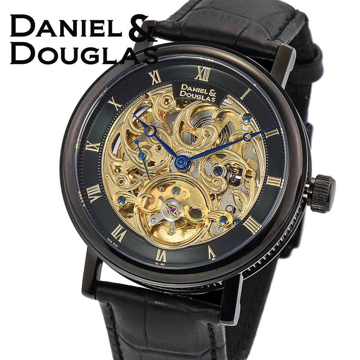 【全品送料無料】 ダニエルダグラス DANIEL&DOUGLAS ダニエル ダグラス DD8805-GP メンズ 時計 腕時計 自動巻き オートマチック スケルトン