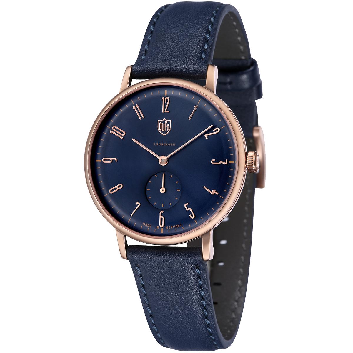 【全品送料無料】 DUFA ドゥッファ DF-9001-0F GROPIUS 時計 腕時計 メンズ レディース 男性 女性 ネイビー おしゃれ プレゼント 贈り物 ギフト ドイツ バウハウス[あす楽]
