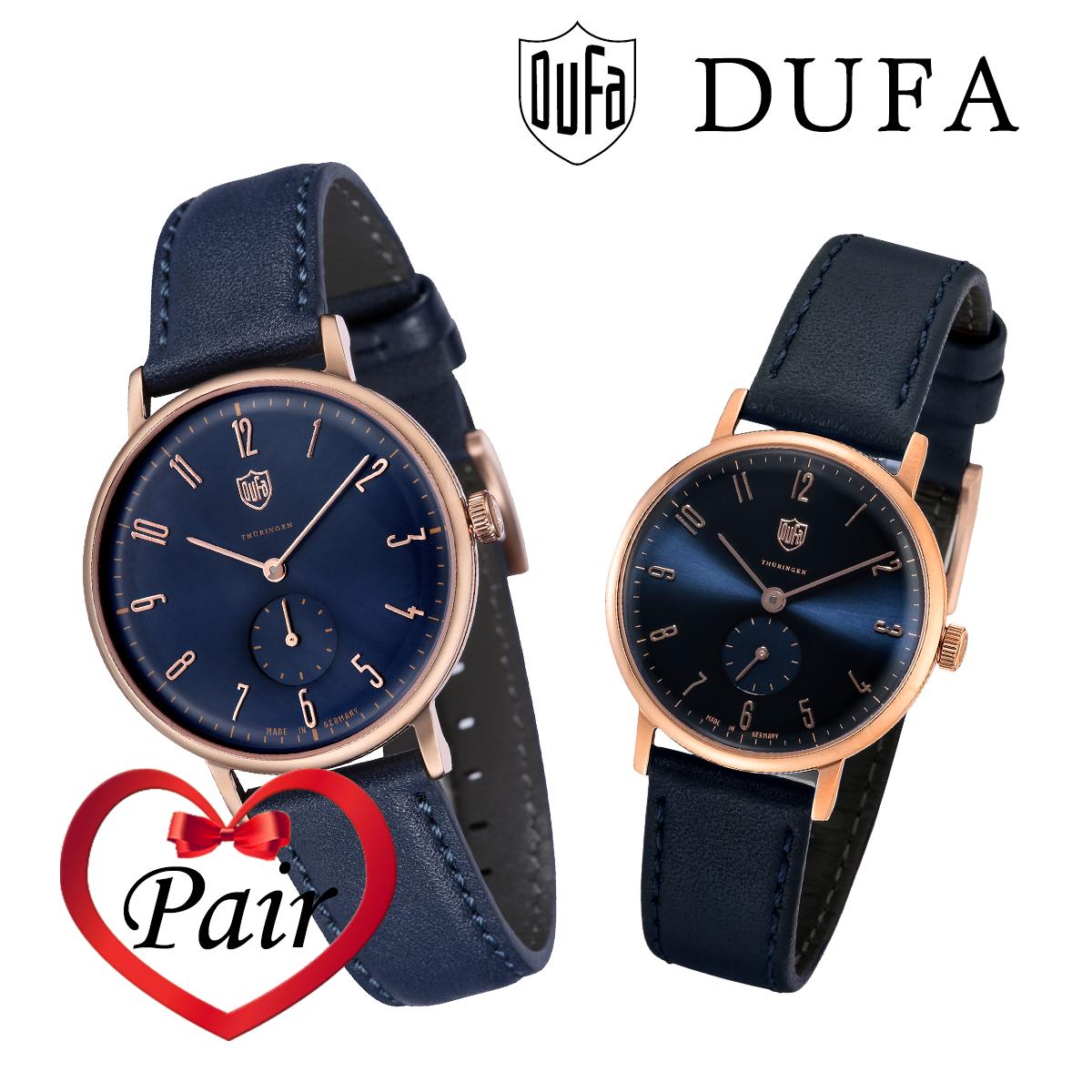 【全品送料無料】 DUFA ドゥッファ ペアウォッチ DF-7001-0F DF-9001-0F プレゼント 贈り物 腕時計 [あす楽]