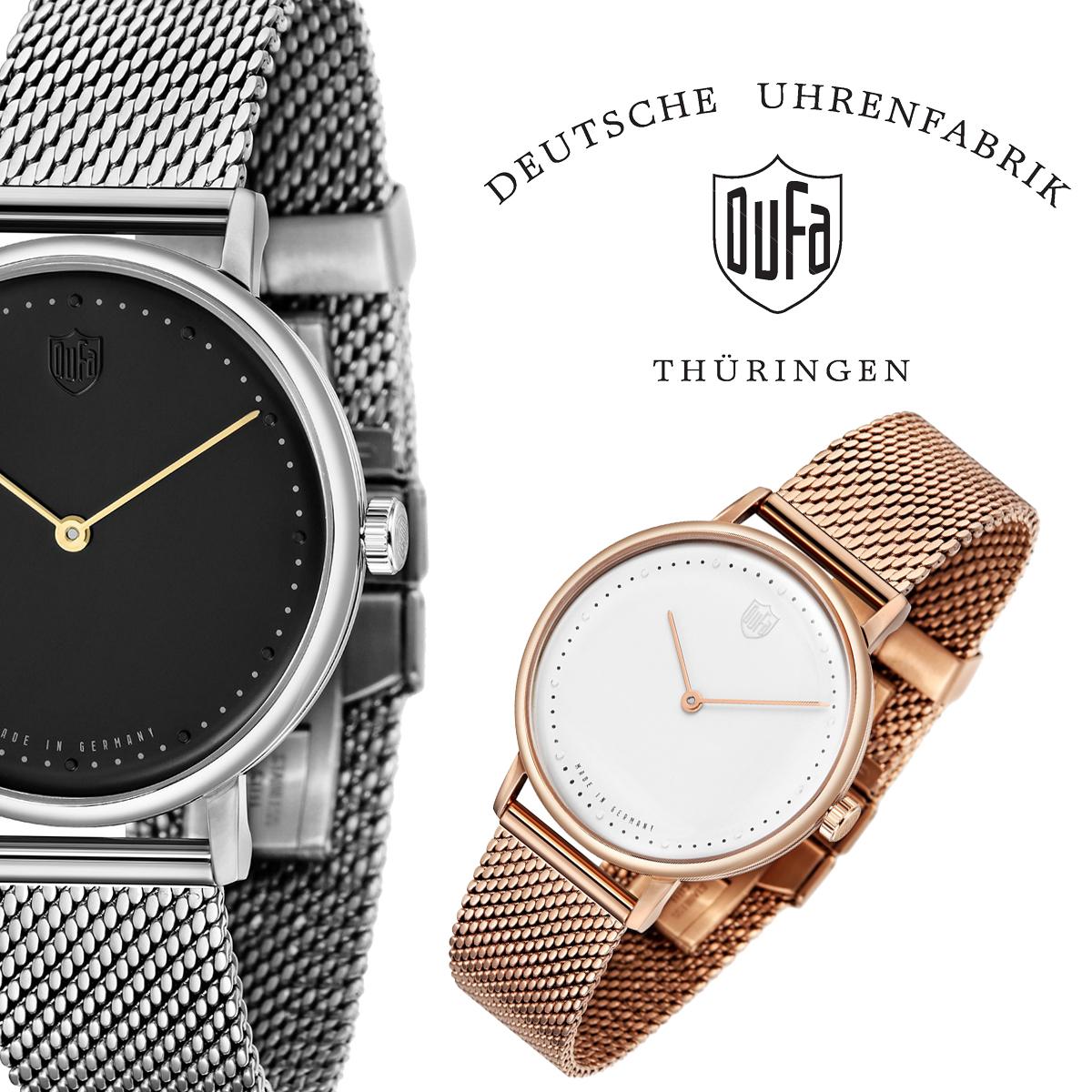 【全品送料無料】 DUFA ドゥッファ DUFA GROPIUS 2hands 時計 腕時計 メンズ レディース 男性 女性 ホワイト ブラック