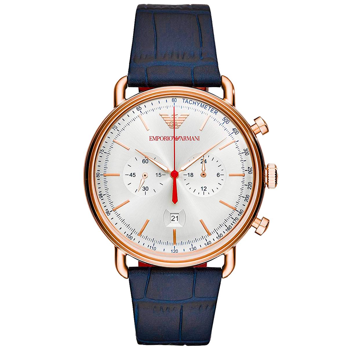 アルマーニ エンポリオアルマーニ EMPORIO ARMANI  AVIATOR アビエーター AR11123 メンズ 時計 腕時計 クオーツ カレンダー
