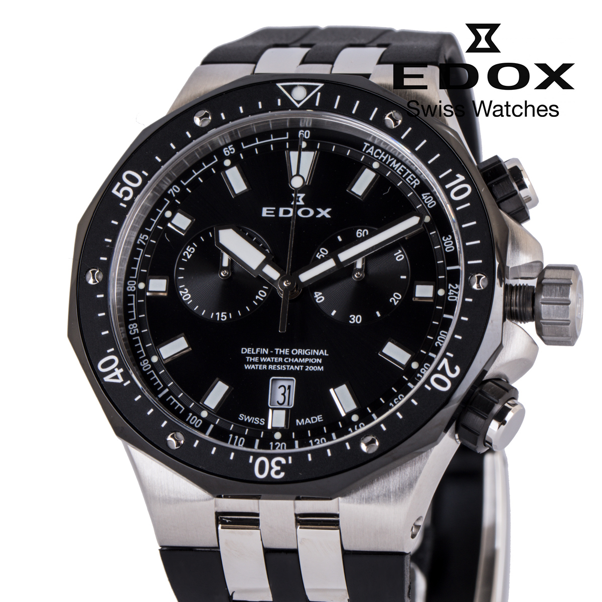 エドックス 海外正規品 送料無料 あす楽 EDOX 限定タイムセール デルフィン オリジナル カレンダー 10109-357NCA-NIN 腕時計 クオーツ クロノグラフ 時計 人気の定番 メンズ