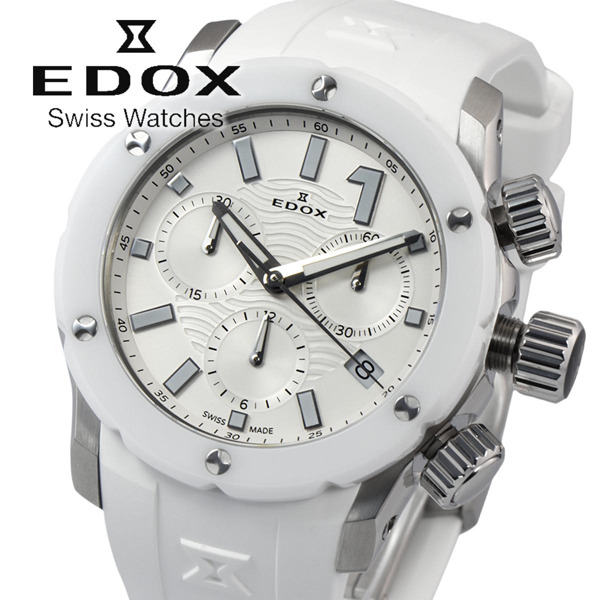 【全品送料無料】 エドックス EDOX CHRONOFFSHORE-1 10225 3B BIN レディース 時計 腕時計 クオ