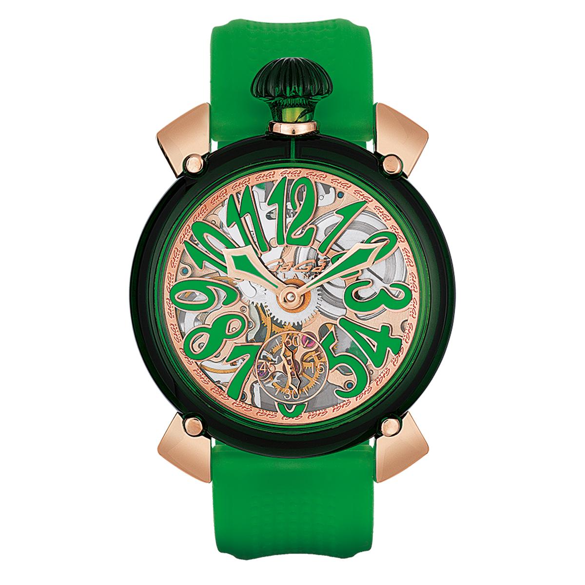 【全品送料無料】 GAGA MILANO ガガ ミラノ 6091.01 MANUALE 48MM クリスタル ユニセックス 時計 腕時計[あす楽]