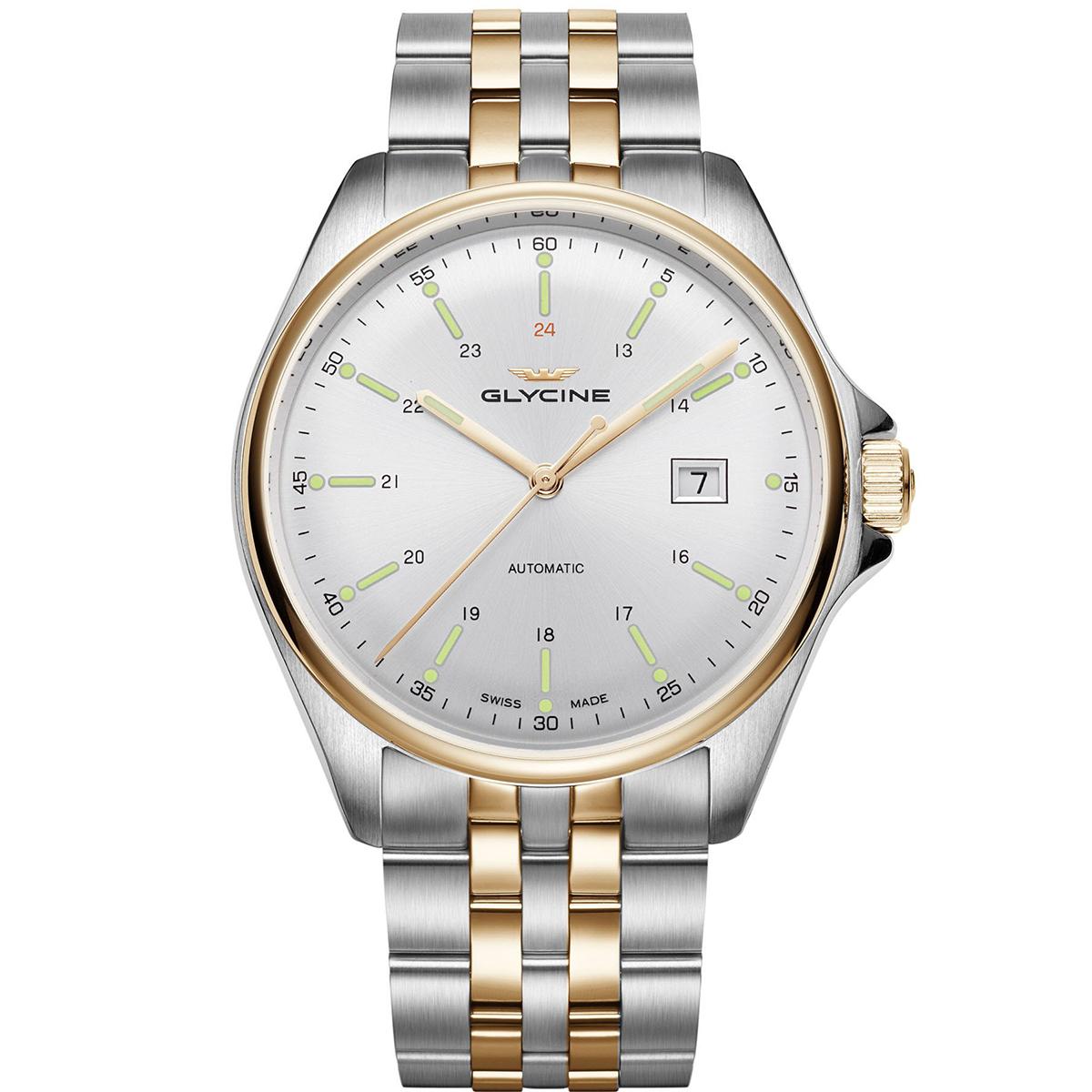 【全品送料無料】 グライシン グリシン GLYCINE コンバット6 クラシック COMBAT 6 CLASSIC 43 GL0104 メンズ 時計 腕時計 自動巻き オートマチック スイス製 スイスメイド パイロット