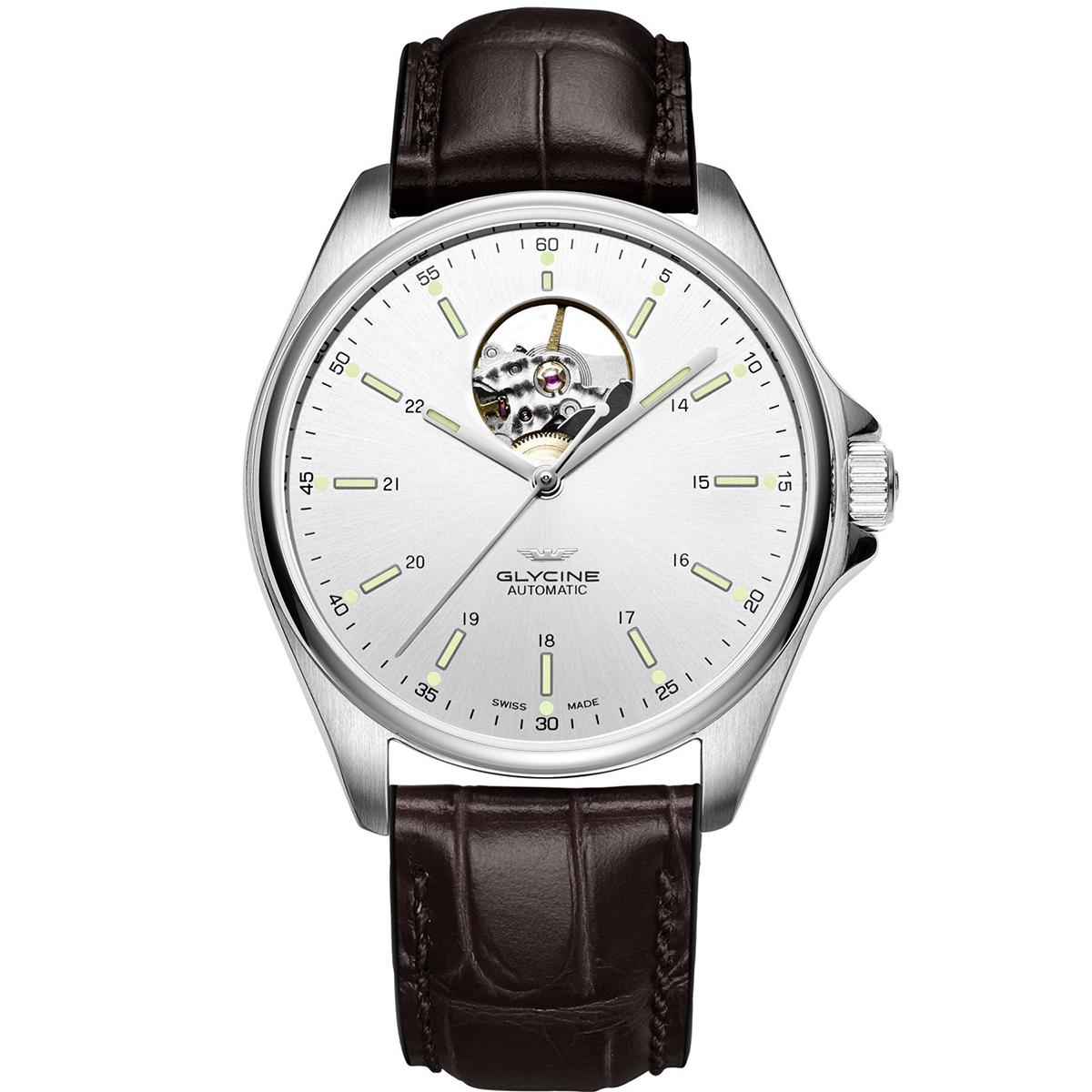 【全品送料無料】 グライシン グリシン GLYCINE コンバット クラシック オープンハート COMBAT OPEN HEART GL0120 メンズ 時計 腕時計 自動巻き オートマチック スイス製 スイスメイド パイロット