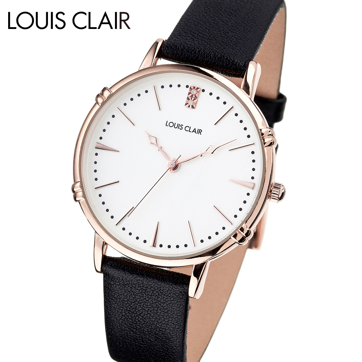 【全品送料無料】 ルイクレール LOUIS CLAIR Rosiers ロジエ CL02-BK レディース 時計 腕時計 クオーツ
