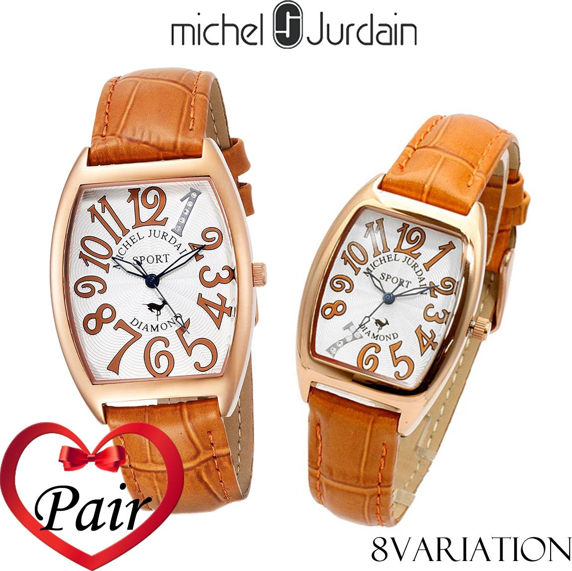 【全品送料無料】 【ペアウォッチ】ミッシェルジョルダン MICHEL JURDAIN SPORTダイヤモンド SG/SL1100 メンズ レディース 腕時計 ペア