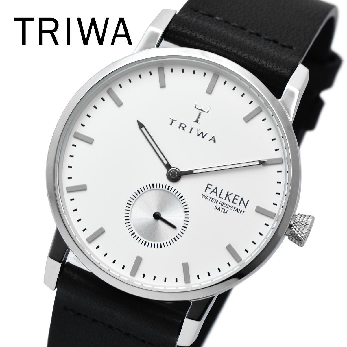 【全品送料無料】 TRIWA トリワ FAST103 CL010112 IVORY FALKEN BLACK メンズ レディース ユニセックス 時計 腕時計 プレゼント 贈り物 ギフト 彼氏 フォーマル カジュアル ペアウォッチ 北欧[あす楽]