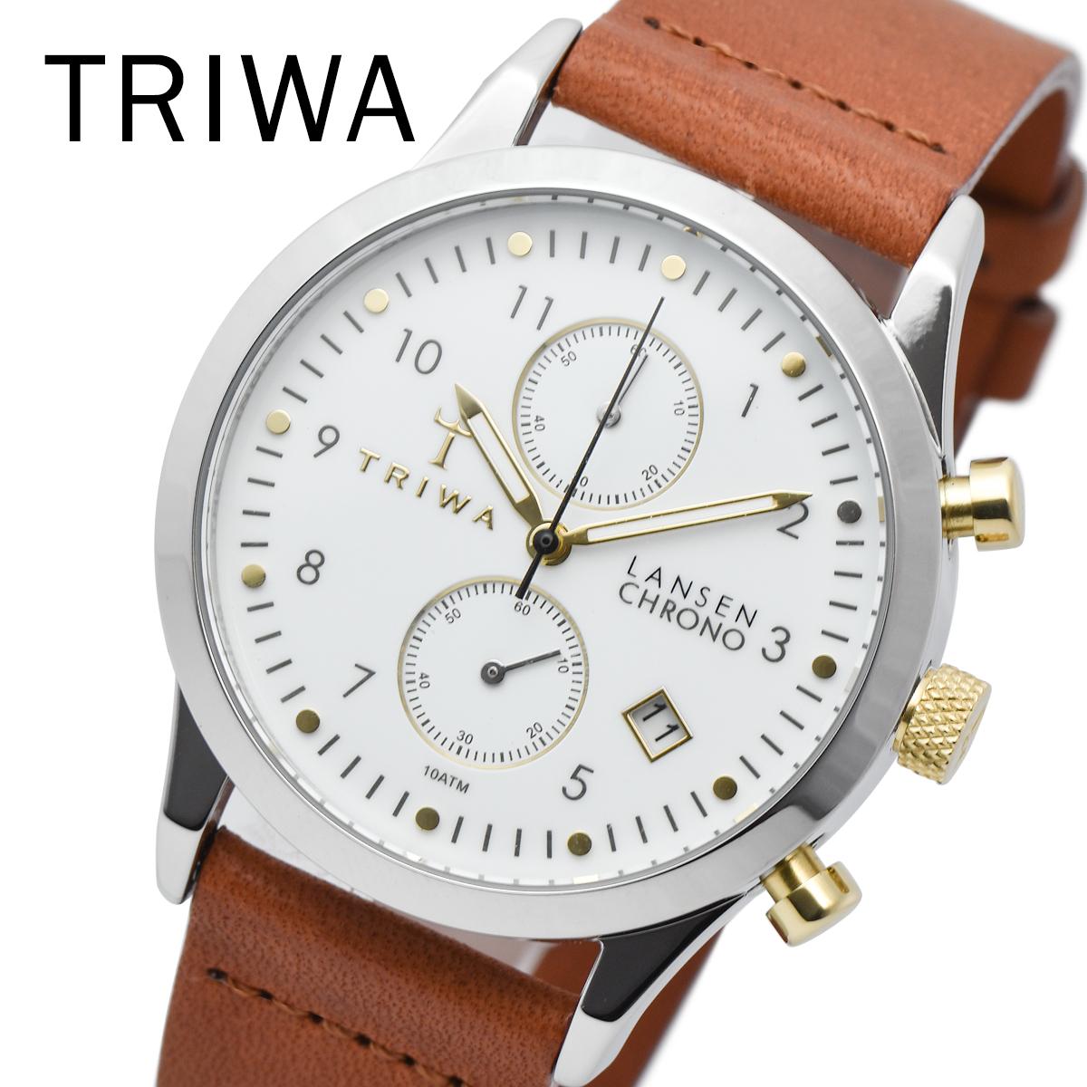 【全品送料無料】 TRIWA トリワ LCST106 CL010212 IVORY LANSEN CHRONO メンズ レディース ユニセックス 時計 腕時計 プレゼント 贈り物 ギフト 彼氏 フォーマル カジュアル ペアウォッチ 北欧[あす楽]