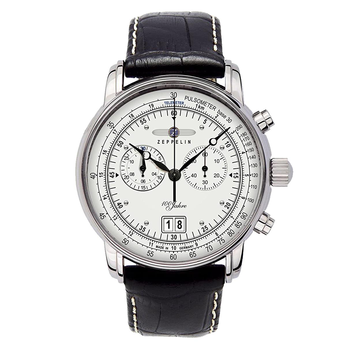 【全品送料無料】 ZEPPELIN ツェッペリン 100周年記念モデル グリーンツェッペリン クロノグラフ アラーム 7690-1 メンズ 時計 腕時計 プレゼント ギフト 贈り物[あす楽]