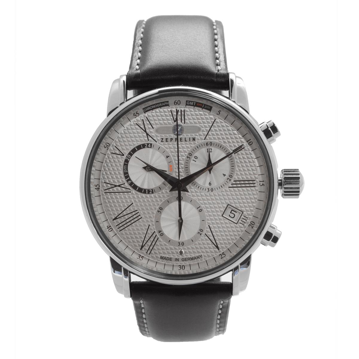 【全品送料無料】 ZEPPELIN ツェッペリン 100周年記念モデル グリーンツェッペリン クロノグラフ アラーム 7694-4 メンズ 時計 腕時計 プレゼント ギフト 贈り物[あす楽]