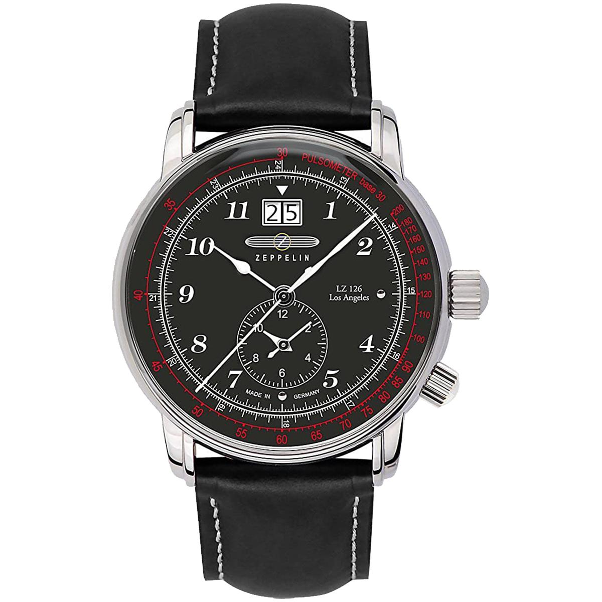 【全品送料無料】 ZEPPELIN ツェッペリン 100周年記念モデル グリーンツェッペリン クロノグラフ アラーム 8644-2 メンズ 時計 腕時計 プレゼント ギフト 贈り物[あす楽]