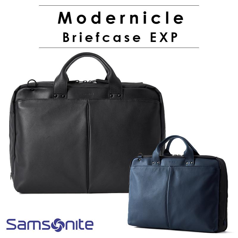 サムソナイト モダニクル ブリーフケース エキスパンダブル 容量拡張 ビジネスバッグ 2年保証 通勤 ビジネススタイル 多機能 就職 出張 ギフト Modernicle Samsonite DV8*001