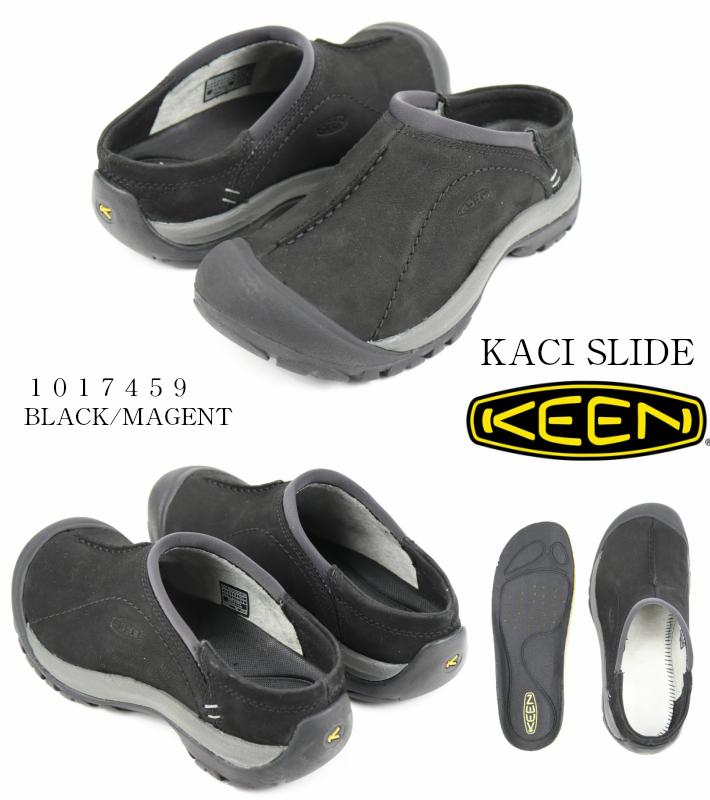 KEEN KACI SLIDE 1017459 BLACK/MAGNET キーン ケイシースライド 正規品 レディーススニーカー レディースサンダル サボタイプ メンズ 婦人靴 2018年NEWモデル 最新モデル 検索 市場 広告 サーチ ランキング 通販