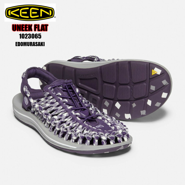 KEEN UNEEK FLAT 1023065 EDOMURASAKI 正規品 keen キーン ユニークフラット メンズスニーカー サンダル 男性靴 紫 パープル 検索 市場 サーチ ランキング 広告 通販 2020年NEWカラー コラボシリーズ 26cm 27cm 28cm 29cm 30cm