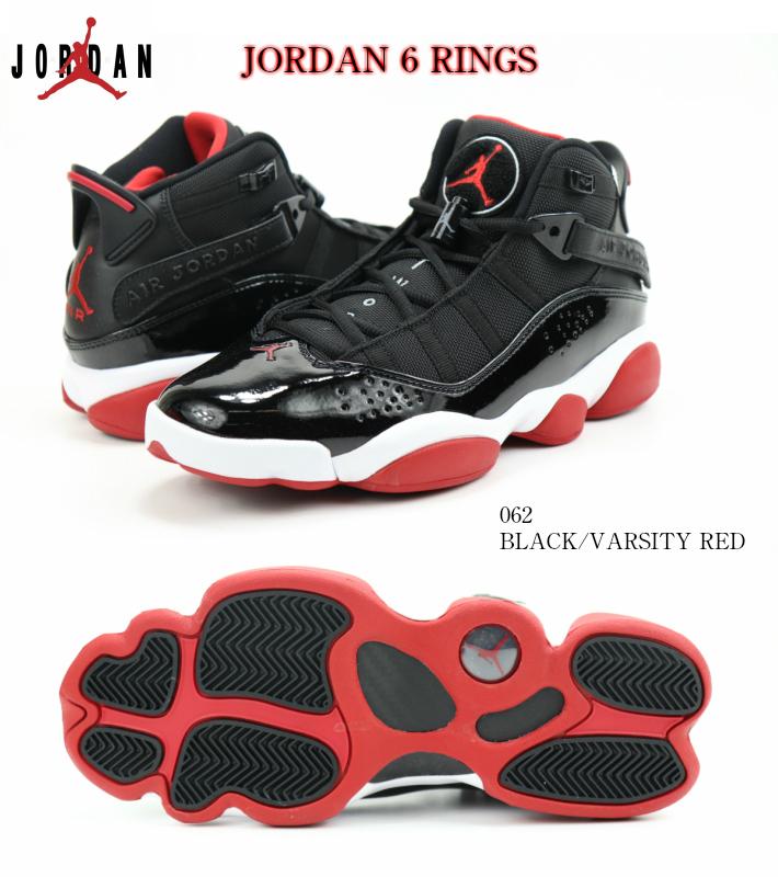 NIKE JORDAN6 RINGS SHOE 322992-062 正規並行輸入品 正規品 ナイキ ジョーダン6 リングス BLACK/VARSITY RED/WHITE MJスニーカー バスケットシューズ 黒 赤 希少モデル メンズスニーカー 男性靴 検索 市場 サーチ ランキング 広告 通販