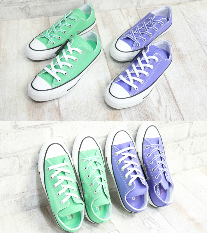 Model of the 100th anniversary of Converse ALLSTAR converse 1SC070 1SC071 all stars 100 colors OX green purple green purple Lady's sneakers men