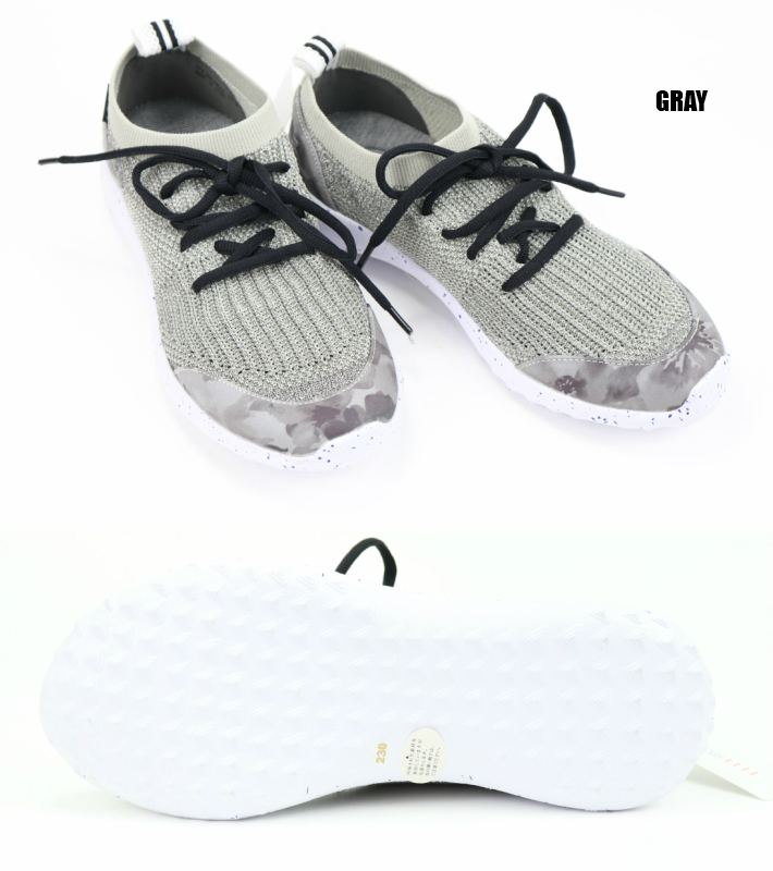ELLE SPORT ESP10642 BLA PIN GRY regular article L sports casual shoes slip ons sneakers opera pump Rakuten search Rakuten market search ranking