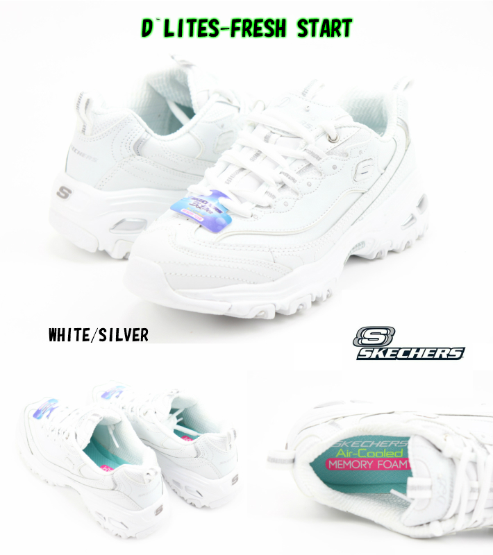 white skechers shoes