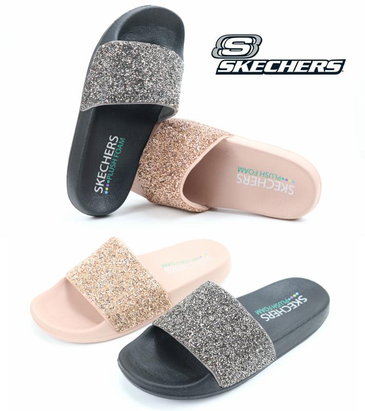 skechers plush foam sandals off 58