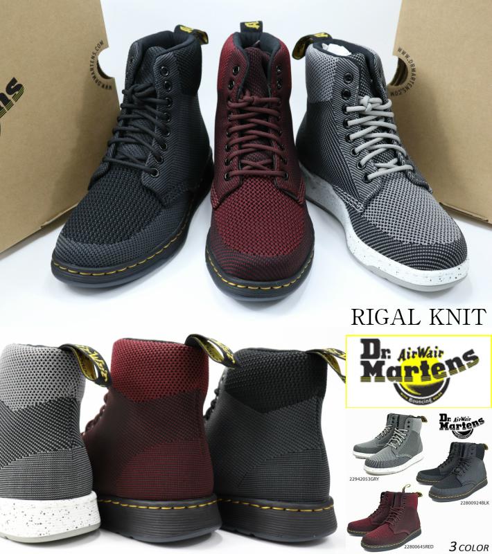 Dr Martens RIGAL KNIT MID 22800645 22942053 GREY/BLACK BLACK/ANTHRACITE ドクターマーチン リガルニット 正規品 レディースブーツ メンズブーツ レディーススニーカー メンズスニーカー 婦人靴 男性靴 トレンド 送料無料 市場 検索 広告 サーチ ランキング