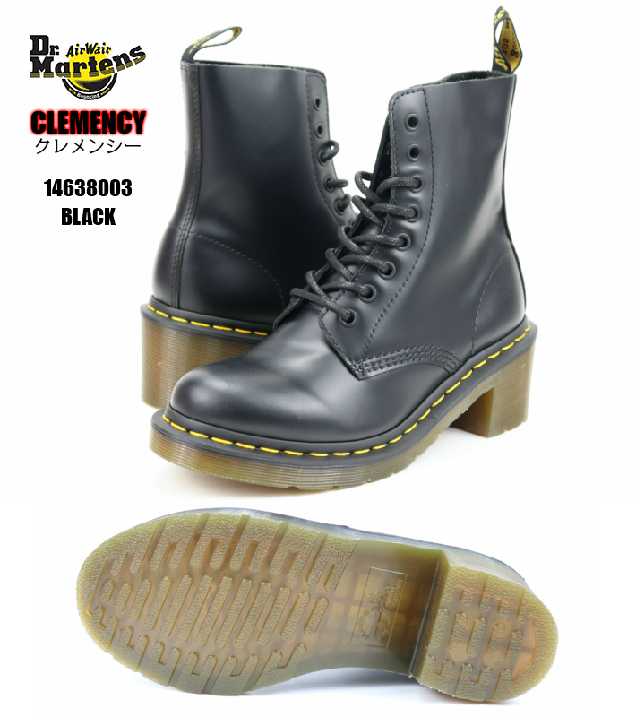Dr.Martens CLEMENCY 14638003 BLACK 正規品 正規取扱店 ドクターマーチン クレメンシー 8フォール レディースブーツ レディススニーカー 婦人靴 黒ブーツ 検索 市場 サーチ ランキング 広告 通販 チャンキーヒール 大人気シリーズ