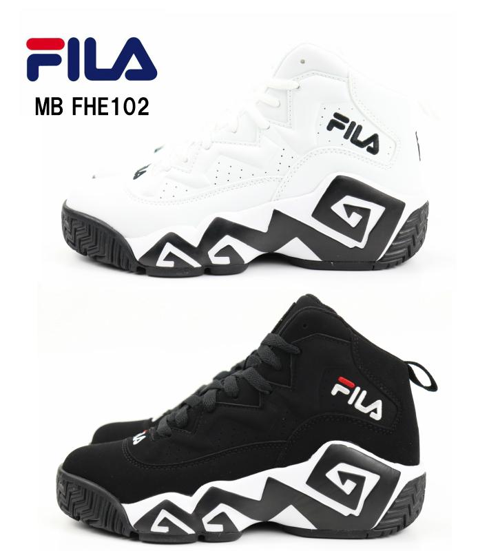 It is latest model fila in FILA MB FHE102 001BLACK 005WHITE domestic regular article Fila NBA player model basketball shoes men sneakers Lady's
