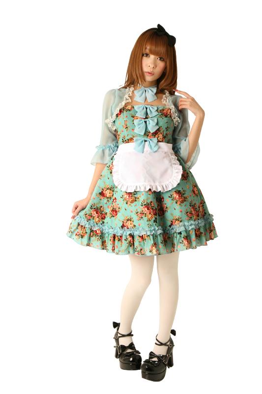 送料無料 不思議の国のアリスローズガーデンアリス 大人用 女性用 仮装 コスチューム 大人 コスプレ 衣装