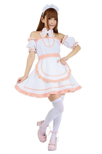 送料無料 Emily セレブレーションメイド ピンク メイド 衣装