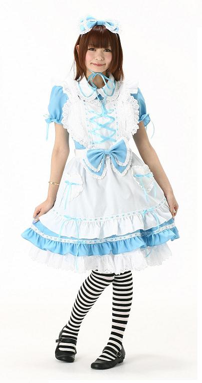 送料無料 不思議の国のアリスAlice's デコレーションドレス 大人用 女性用 仮装 コスチューム 大人 コスプレ 衣装