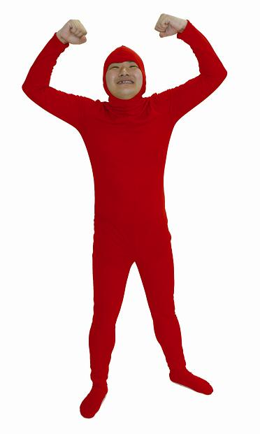 whole body tights red back fastener type whole body tights