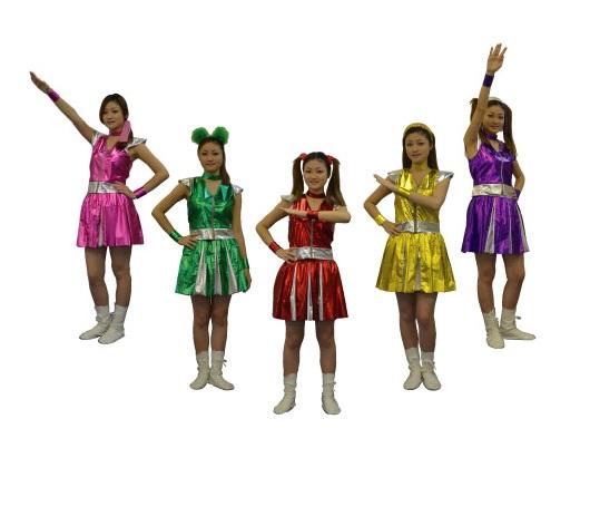送料無料 ガールズレンジャー 5人組セット コスプレ 衣装 女装 女装 女装娘 男娘