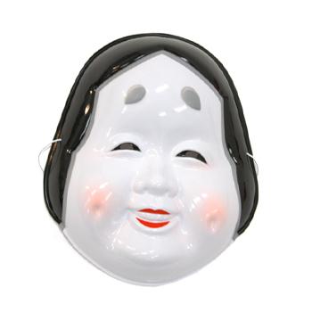 仮装 かぶりもの マスク 節分 おかめ面 縁日 返品送料無料 お祭り おかめ オカメ 気質アップ お面