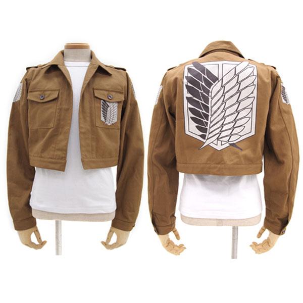 送料無料 兵団ジャケット ショートver 「進撃の巨人」 仮装 コスチューム 大人 コスプレ 衣装