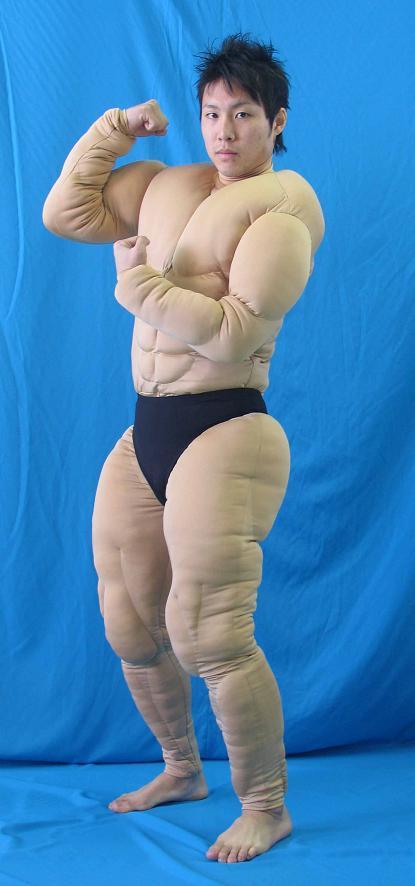 送料無料 筋肉スーツ 筋肉タイツ 全身タイツ