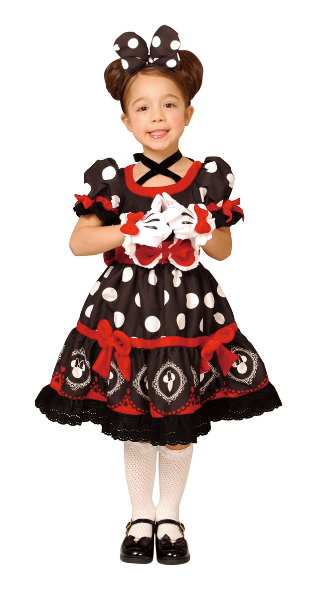 送料無料 HWO 子供 ゴシックブラックミニー S 100-120cm対応 女の子 ディズニープリンセス キャラクター コスチューム 公式ライセンス 仮装 変装 コスプレ ハロウィン 衣装