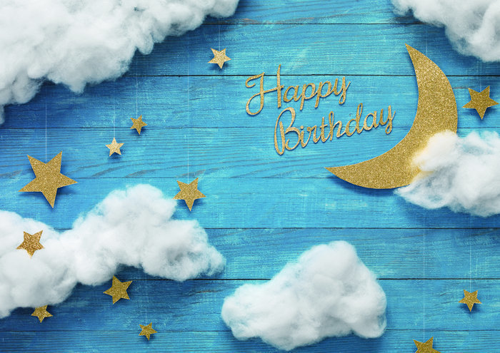 イエスタ Happy Birthday ナイトスカイ 誕生日 パーティーグッズ 記念写真 インスタ映え 背景 スタジオ 写真館