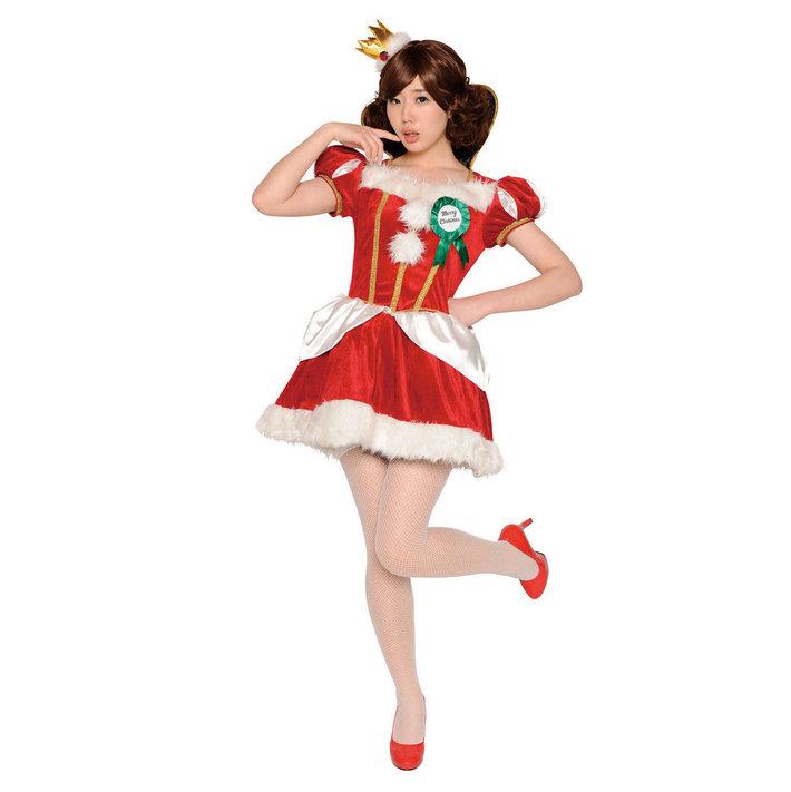 送料無料 クリスマスクイーン クリスマス コスプレ コスチューム サンタ サンタクロース 衣装