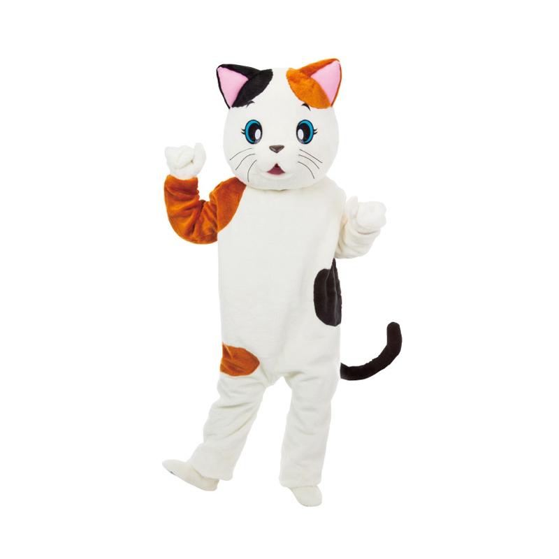 送料無料 着ぐるみ アニマル着ぐるみ ネコのミケちゃん 着ぐるみ コスプレ 動物 仮装グッズ イベント 宴会