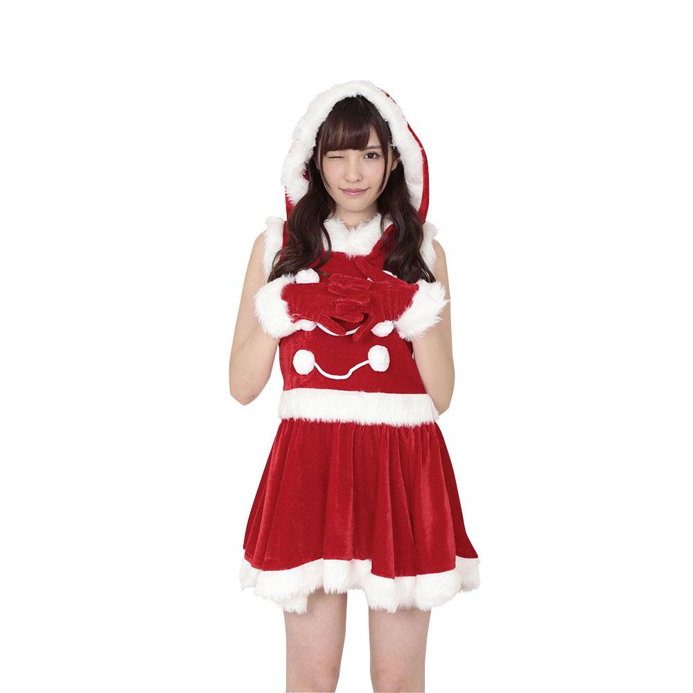 送料無料 ガーリッシュサンタガール クリスマス コスプレ Xmas サンタクロース 衣装 プチプラ コスチューム