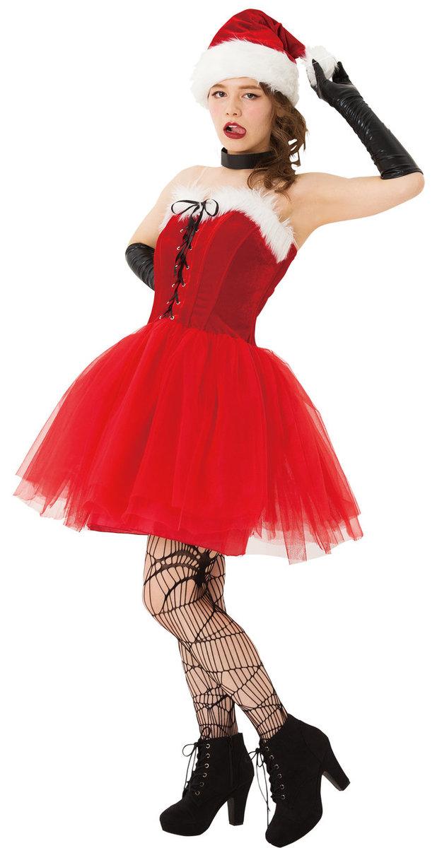 送料無料 マジサンタ ロックンチュールサンタ レディース クリスマス コスプレ 女性用 サンタクロース コスチューム 衣装 Xmas