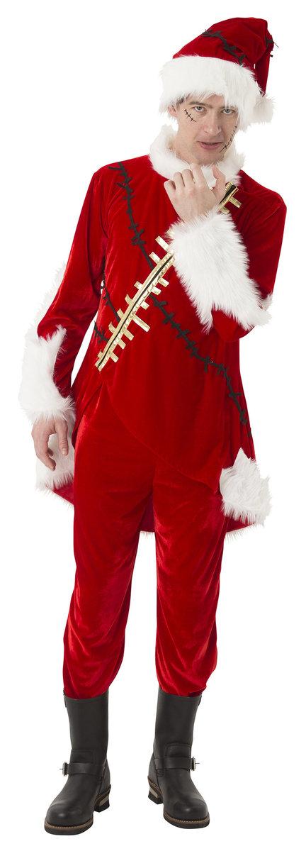 送料無料 マジサンタ ビリビリクラッシュサンタ メンズ クリスマス コスプレ 男性用 コスチューム サンタクロース 衣装 Xmas