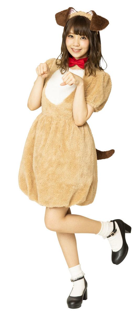 送料無料 ふわもこアニマル ブラウンドッグ レディース どうぶつ かわいい コスチューム 仮装 コスプレ
