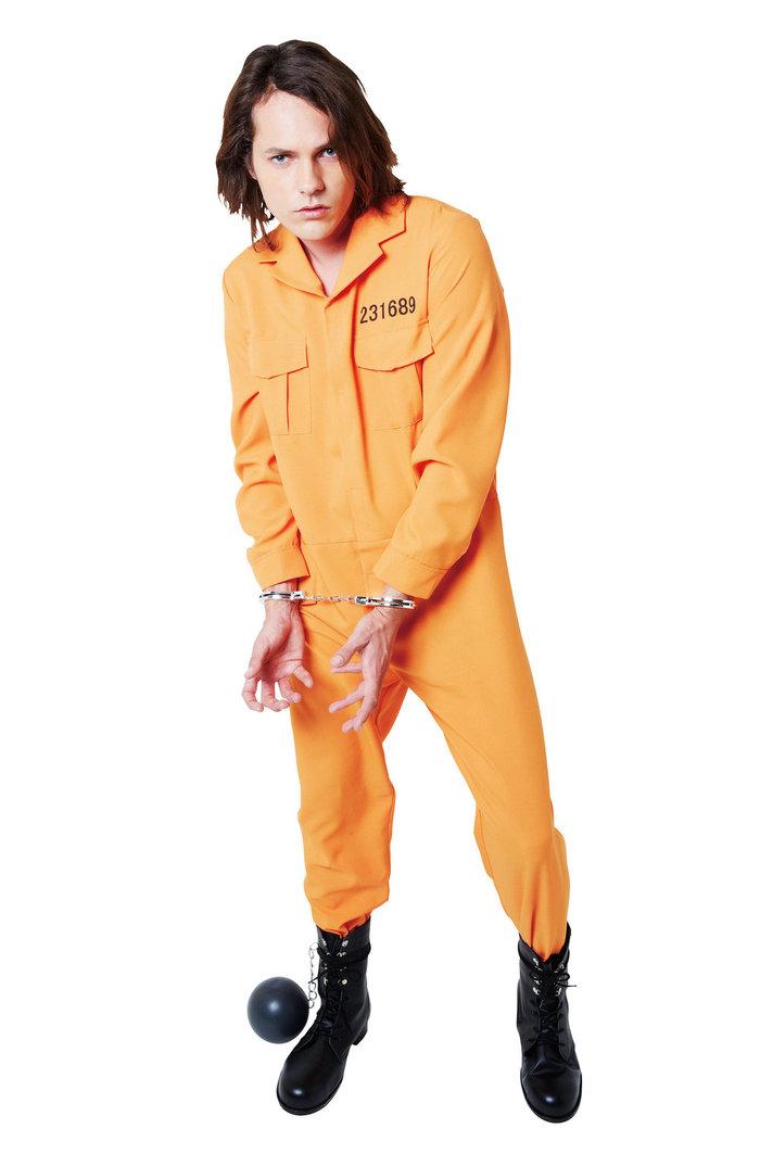 送料無料 HWO マジカルプリズナー 男性 メンズ ハロウィン コスプレ 囚人 仮装 変装 コスチューム 衣装