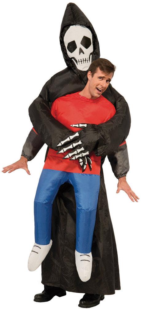 送料無料 大人 インフレタブルリーパー 男性 メンズ 悪魔 スカル ホラー コスチューム コスプレ 変装 ハロウィン 衣装 仮装